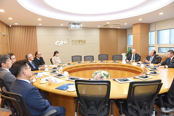 Berge delegation Visits CAU